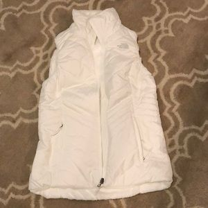 The North Face reversible white vest medium